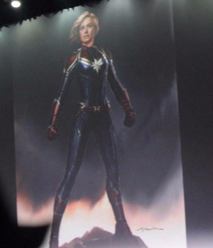 A glimpse of Captain Marvel - Credit: Instagram