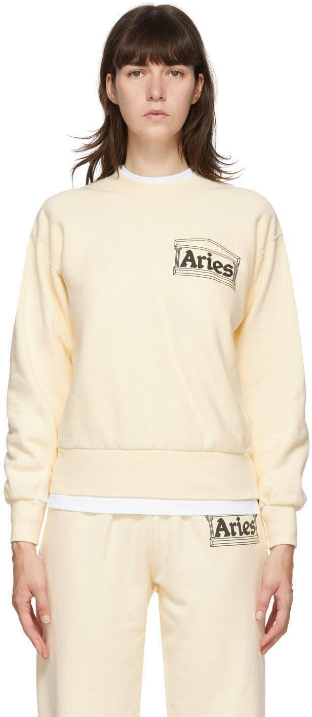 <p>Do we really need to explain why this <span>Aries Beige Premium Temple Sweatshirt</span> ($240) is a must-have?</p>