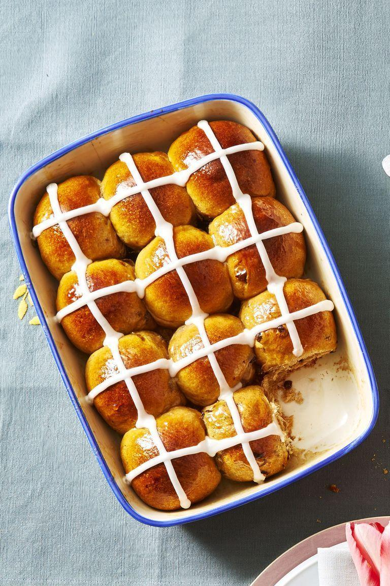 "<p>These sticky sweet pastries are classic Easter treat — and for good reason. Our recipe effortlessly combines winter spices with spring flavors (think an apricot jam glaze). </p><p><u><em><a href=""https://www.goodhousekeeping.com/food-recipes/a48163/iced-hot-cross-buns-recipe/"" rel=""nofollow noopener"" target=""_blank"" data-ylk=""slk:Get the recipe for Ice Hot Cross Buns »"" class=""link rapid-noclick-resp"">Get the recipe for Ice Hot Cross Buns »</a></em></u></p><p><strong>RELATED: </strong><a href=""https://www.goodhousekeeping.com/holidays/easter-ideas/g4141/easter-treats/"" rel=""nofollow noopener"" target=""_blank"" data-ylk=""slk:38 Easter Treats You Should Hop to Make Right Now"" class=""link rapid-noclick-resp"">38 Easter Treats You Should Hop to Make Right Now</a><br></p>"