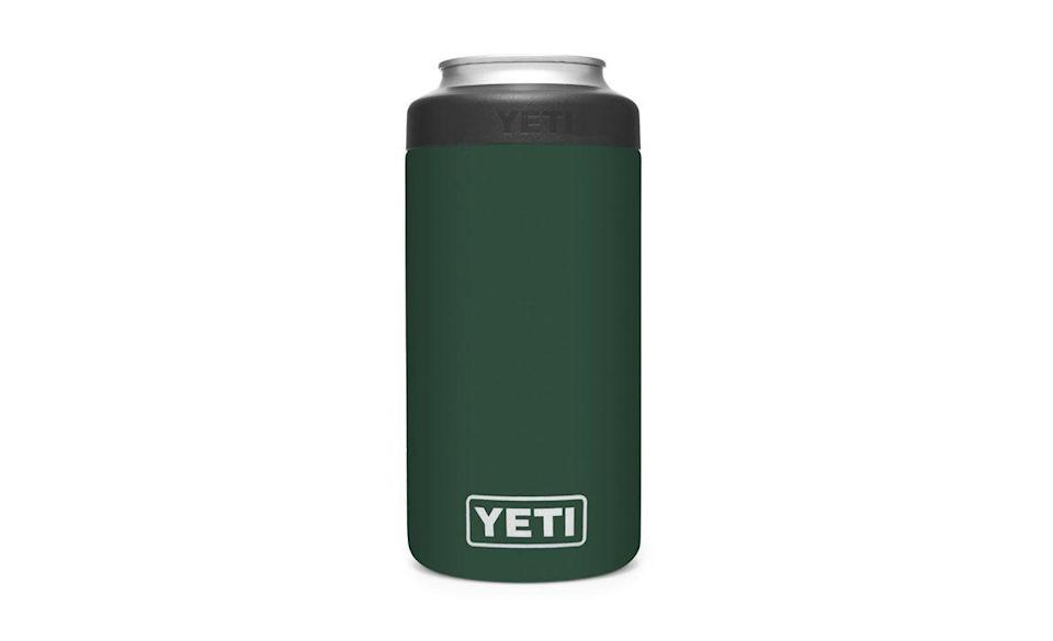 """<p><strong>YETI</strong></p><p>yeti.com</p><p><strong>$29.99</strong></p><p><a href=""""https://go.redirectingat.com?id=74968X1596630&url=https%3A%2F%2Fwww.yeti.com%2Fen_US%2Ffall-2020-new-colors%2Frambler-16-oz-colster-tall-can-insulator%2F21070090111.html%3Favad%3D55097_f1d95c479&sref=https%3A%2F%2Fwww.menshealth.com%2Ftechnology-gear%2Fg34453261%2Fbest-gifts-for-sister%2F"""" rel=""""nofollow noopener"""" target=""""_blank"""" data-ylk=""""slk:BUY IT HERE"""" class=""""link rapid-noclick-resp"""">BUY IT HERE</a></p><p>No shame is the basic game. I love a good old-fashioned, low-calorie, low-carb hard seltzer just as much as your sister. However, with double insulation, this Yeti slim can Koozie will elevate her White Claw flex and keep it astonishingly cold down to the very last sip. Personalize it with her initials for added love.</p>"""