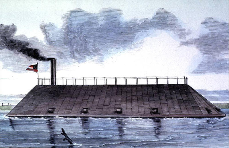 This undated photo provided on Friday, May 4, 2012 by the U.S. Army Corps of Engineers shows a rendering of the CSS Georgia, a Confederate warship that sank in the Savannah River nearly 148 years ago in Savannah, Ga. The Army Corps of Engineers plans to spend $14 million to raise and preserve the sunken Confederate ironclad to make room for deepening Savannah's harbor. (AP Photo/U.S. Army Corps of Engineers)