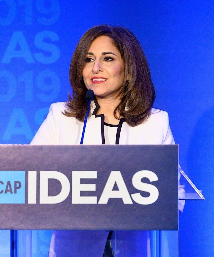 Mandatory Credit: Photo by Michael Brochstein/SOPA Images/Shutterstock (10246159k) Neera Tanden, President and CEO, Center for American Progress CAP Ideas Conference, Center For American Progress, Washington, USA – 22 May 2019
