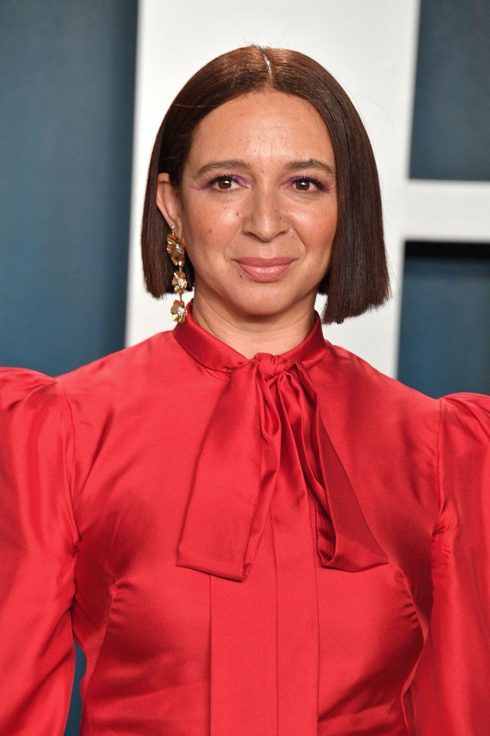 "<p>This just-barely-auburn look on <strong>Maya Rudolph</strong> shows that sleek and simple bobs need only a hint of warmth to stand out this fall.</p><p><strong>RELATED:</strong> <a href=""https://www.goodhousekeeping.com/beauty/hair/g1813/celebrity-hairstyles-bobs/"" rel=""nofollow noopener"" target=""_blank"" data-ylk=""slk:55+ Polished and Pretty Bobs"" class=""link rapid-noclick-resp"">55+ Polished and Pretty Bobs</a></p>"