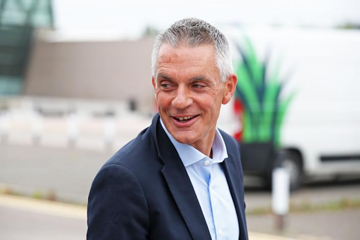 Tim Davie, new Director General of the BBC, arrives at BBC Scotland in Glasgow for his first day in the role. (Photo by Andrew Milligan/PA Images via Getty Images)