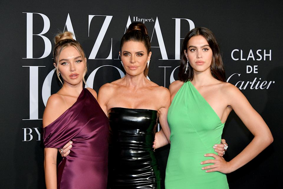 Lisa Rinna shares her vintage dresses with daughters Delilah Belle Hamlin and Amelia Gray. (Photo: Getty Images)