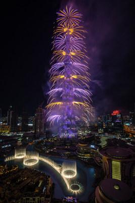 Emaar lit up the Downtown Dubai skyline with an unforgettable and record-breaking eight-minute and forty-three-second-long New Year's Eve Show on Burj Khalifa, the world's tallest building delighting billions of people around the globe