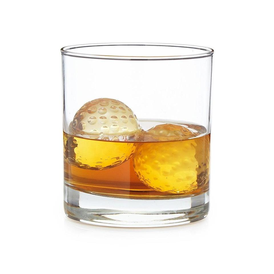 <p>The <span>Golf Ball Whiskey Chillers - Set of 2</span> ($30) are pefect for the golfer who likes to have some Scotch post game.</p>