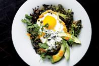 """Topped with roasted vegetables and a fried egg, rice can easily become the base of a healthy and hearty meal in a bowl. <a href=""""http://www.epicurious.com/ingredients/rice-guide-brown-long-short-basmati-jasmine-article?mbid=synd_yahoo_rss"""" rel=""""nofollow noopener"""" target=""""_blank"""" data-ylk=""""slk:Black rice still has its bran"""" class=""""link rapid-noclick-resp"""">Black rice still has its bran</a>, so it's more nutritious (and flavorful!) than white rice. <a href=""""https://www.epicurious.com/recipes/food/views/stir-fried-black-rice-with-fried-egg?mbid=synd_yahoo_rss"""" rel=""""nofollow noopener"""" target=""""_blank"""" data-ylk=""""slk:See recipe."""" class=""""link rapid-noclick-resp"""">See recipe.</a>"""
