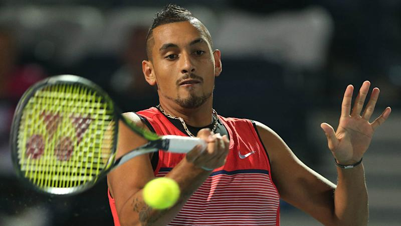 Red-hot Kyrgios marches on in Dubai