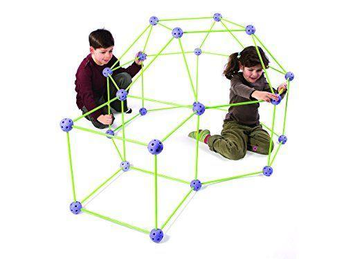 """<p><strong>Crazy Forts</strong></p><p>amazon.com</p><p><strong>$38.77</strong></p><p><a href=""""https://www.amazon.com/dp/B001DNHYC0?tag=syn-yahoo-20&ascsubtag=%5Bartid%7C10055.g.26859132%5Bsrc%7Cyahoo-us"""" rel=""""nofollow noopener"""" target=""""_blank"""" data-ylk=""""slk:Shop Now"""" class=""""link rapid-noclick-resp"""">Shop Now</a></p><p>Crazy Forts makes it easy for kids to <strong>assemble their own DIY fort </strong>structures. Once the fort is built, kids just need to add bedsheets on top to act as makeshift walls. Kids can really use their creativity as they build out whatever forts they dream up, or they can just use the instructions if they'd like a blueprint to follow. <em>Ages 5+</em></p>"""