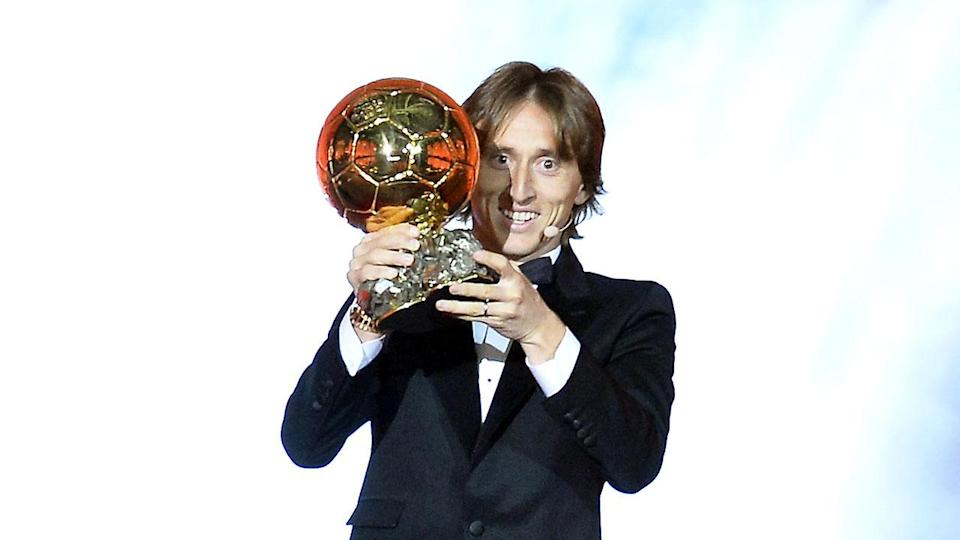 Modric is the first Croatian to win the Ballon d'Or. Pic: Getty