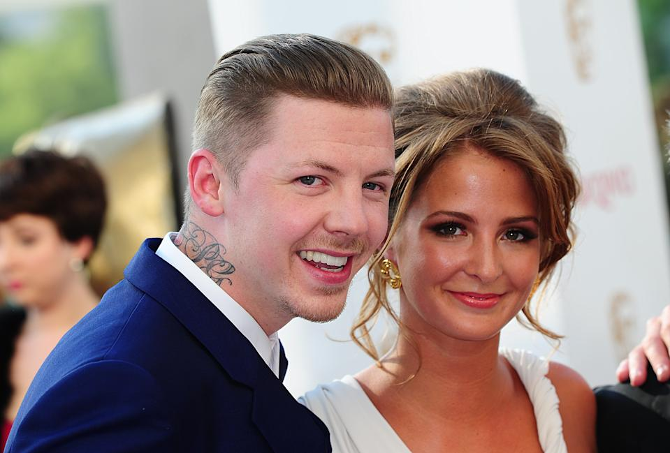 Professor Green and Millie Mackintosh arriving for the 2012 Arqiva British Academy Television Awards at the Royal Festival Hall, London (Photo by Ian West/PA Images via Getty Images)