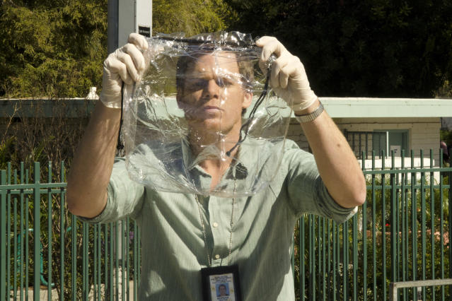 "Michael C. Hall as Dexter Morgan in the ""Dexter"" Season 8 episode, ""Every Silver Lining."""
