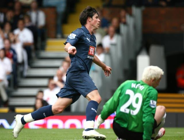 Bale bagged his first Tottenham goal in September 2007 but he would not experience his first win as a starter in the Premier League until January 2010 (Nick Potts/PA)