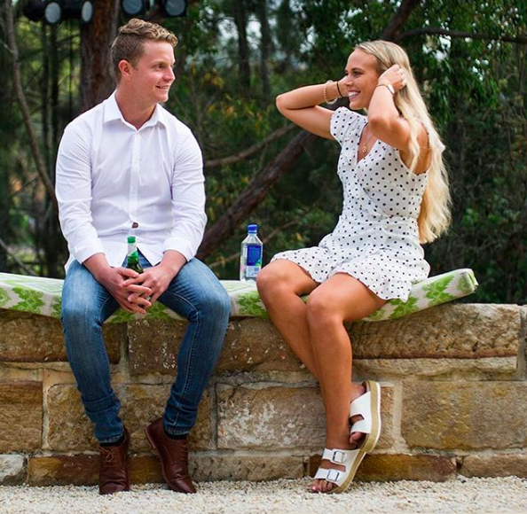 A report claims she found comfort in the Bachelor's younger sibling. Photo: Channel Ten