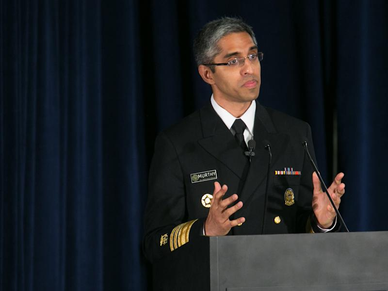 Dr Vivek Murthy has been forced to resign and has been replaced by his deputy, a nurse: Getty