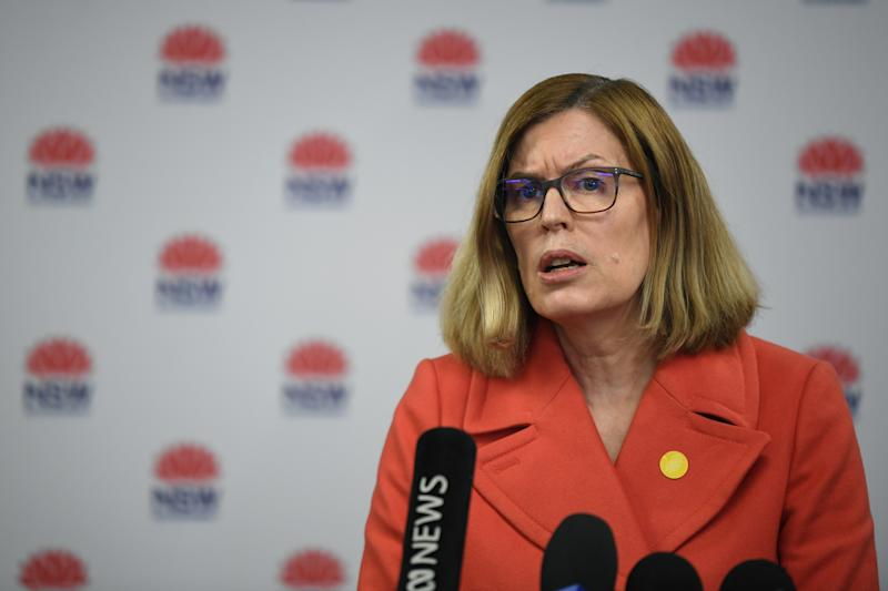NSW Chief Health Officer Dr Kerry Chant said missing links in local transmissions are still a concern. Source: AAP
