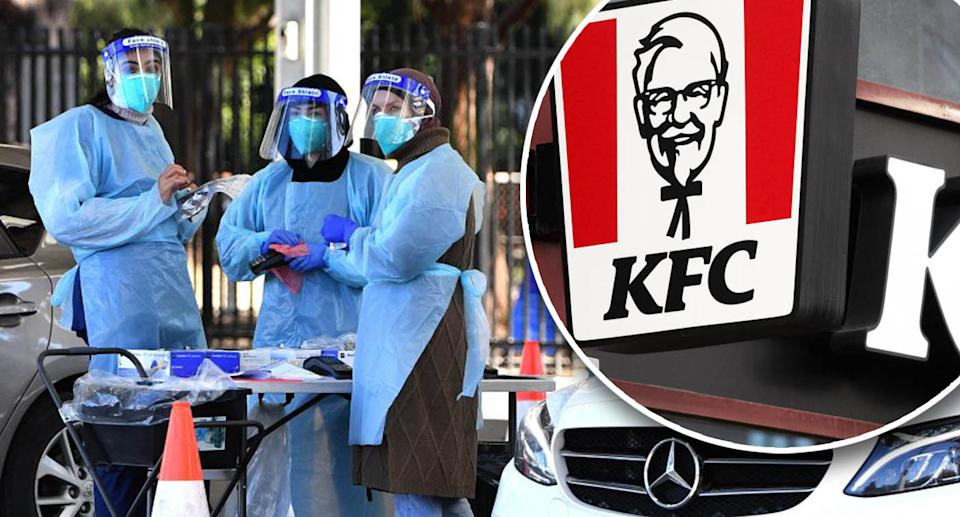 Contact tracers are scrambling to ensure customers of KFC Punchbowl over a seven-day period are identified. Source: Getty