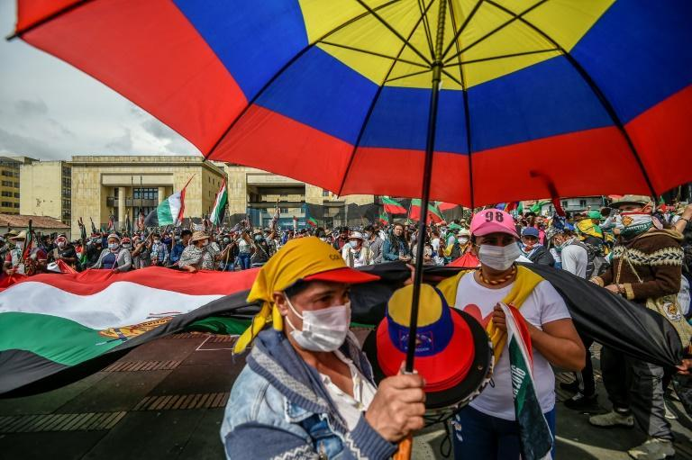 Thousands of indigenous Colombians arrived in the country's capital, demanding a meeting with President Ivan Duque and an end to growing violence in their territories