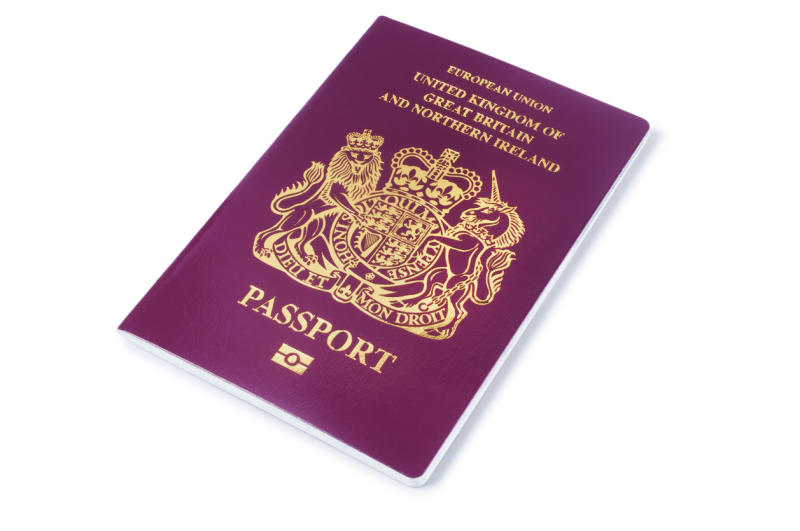 Blue passports may replace the current burgundy version under a Home Office redesign: Getty Images/iStockphoto