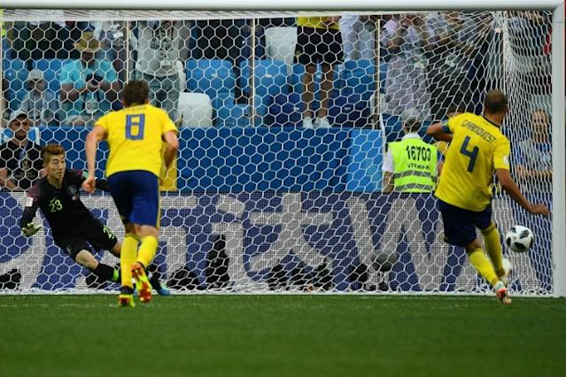 Captain Andreas Granqvist scored the penalty that gave Sweden victory