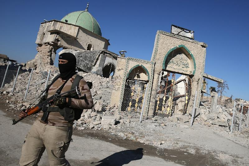 The Al-Nuri Mosque was largely reduced to ruins by the fighting (AFP Photo/AHMAD AL-RUBAYE)