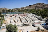 The EU has committed 276 million euros ($326 million) for new camps with stricter access measures on Greece's five Aegean islands (AFP/Theophile Bloudanis)