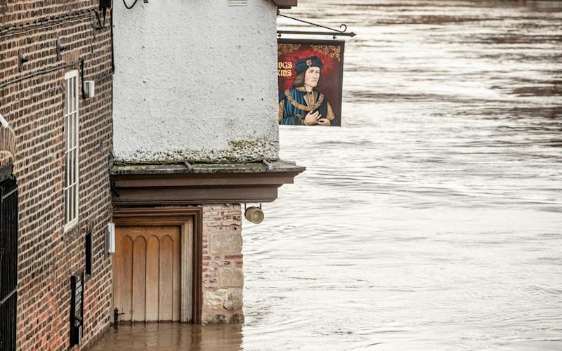 Rain has left parts of York heavily flooded - Danny Lawson/PA
