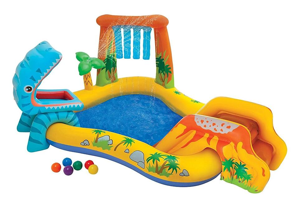 "<p>If you're looking to take water games to the next level, you need this <a href=""https://www.popsugar.com/buy/Intex-Dinosaur-Play-Center-398622?p_name=Intex%20Dinosaur%20Play%20Center&retailer=walmart.com&pid=398622&price=59&evar1=moms%3Aus&evar9=25800161&evar98=https%3A%2F%2Fwww.popsugar.com%2Fphoto-gallery%2F25800161%2Fimage%2F44870131%2FIntex-Dinosaur-Play-Center&list1=gifts%2Choliday%2Cgift%20guide%2Cparenting%2Ckid%20shopping%2Choliday%20for%20kids%2Cgifts%20for%20toddlers%2Cbest%20of%202019&prop13=api&pdata=1"" class=""link rapid-noclick-resp"" rel=""nofollow noopener"" target=""_blank"" data-ylk=""slk:Intex Dinosaur Play Center"">Intex Dinosaur Play Center</a> ($59).</p>"