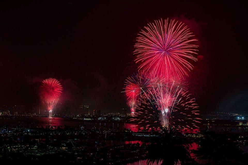 """<p><strong>San Diego, California</strong></p><p>Celebrate the 4th of July from vantage points around the San Diego Bay during the annual <a href=""""https://bigbayboom.com/locations/"""" rel=""""nofollow noopener"""" target=""""_blank"""" data-ylk=""""slk:Big Bay Boom"""" class=""""link rapid-noclick-resp"""">Big Bay Boom</a>. The Independence Day celebration will have you in awe.</p>"""