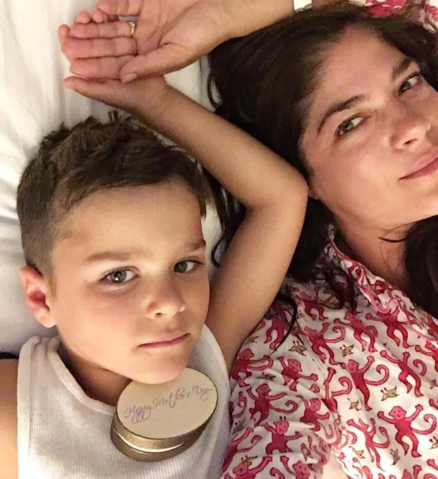 "<p><span>What better way to start out Mother's Day than with some cuddles from your little boy? ""</span><span>Happy Mother's Day to all of you mother lovers and mothers,"" the actress captioned a photo of her and her</span> 5-year-old son, Arthur. ""<span>We got this. I am so happy to have this morning, this soul next to me."" </span>(Photo: <a href=""https://www.instagram.com/p/BUE2feaARW9/"" rel=""nofollow noopener"" target=""_blank"" data-ylk=""slk:Selma Blair via Instagram"" class=""link rapid-noclick-resp"">Selma Blair via Instagram</a>) </p>"