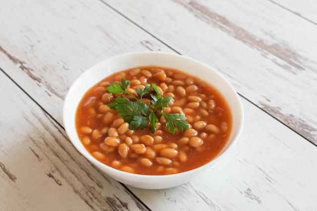 Baked beans are a good source of fibre, but are also also high in sugar. (Getty Images)