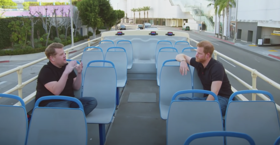 Prince Harry's interview with James Corden