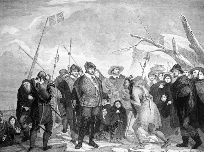 1620 LANDING OF PILGRIM... (Charles Phelps Cushing / Getty Images)
