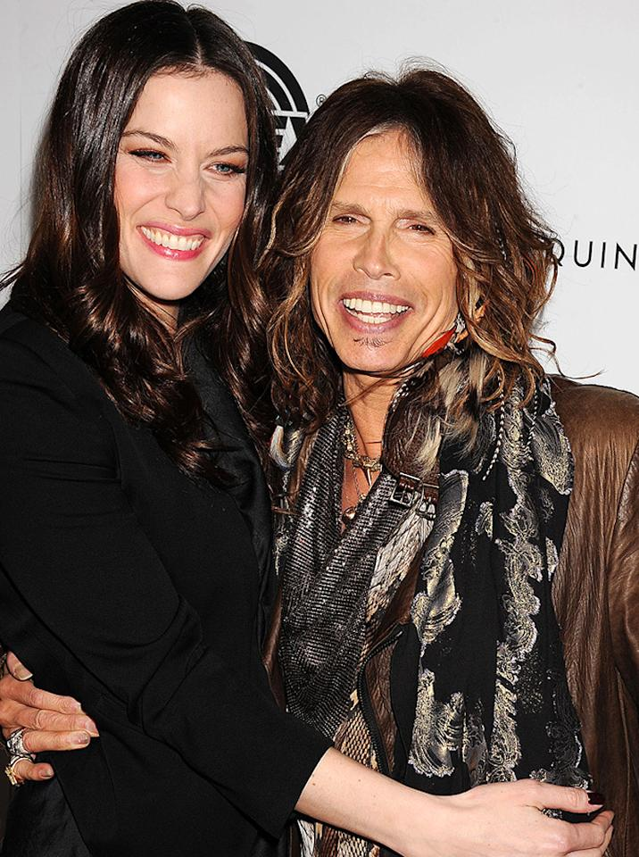"<a href=""http://movies.yahoo.com/movie/contributor/1800019265"">Liv Tyler</a> and <a href=""http://movies.yahoo.com/movie/contributor/1807845338"">Steven Tyler</a> at the Los Angeles premiere of <a href=""http://movies.yahoo.com/movie/1810167552/info"">Super</a> on March 21, 2011."