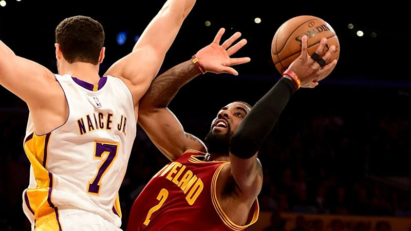 Kyrie Irving outduels D'Angelo Russell as Cavaliers survive Lakers