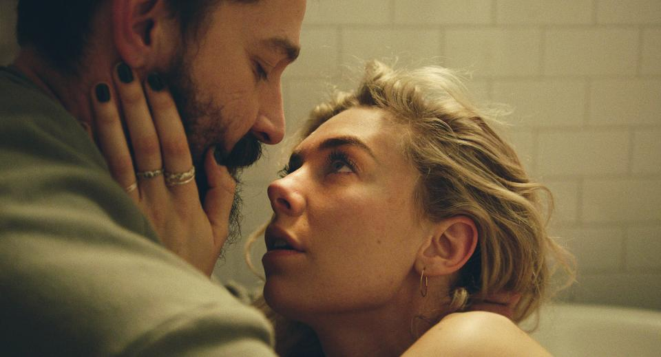 Shia LeBeouf as Sean and Vanessa Kirby as Martha in upcoming film Pieces Of A Woman (Benjamin Loeb/Netflix)