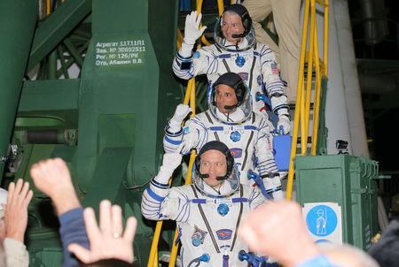 Russian and United States astronauts arrive at ISS