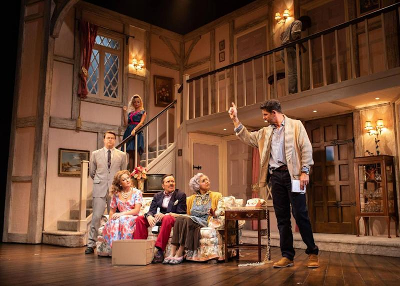 The cast of Noises Off perform at the Garrick Theatre, London's West End: Helen Maybanks