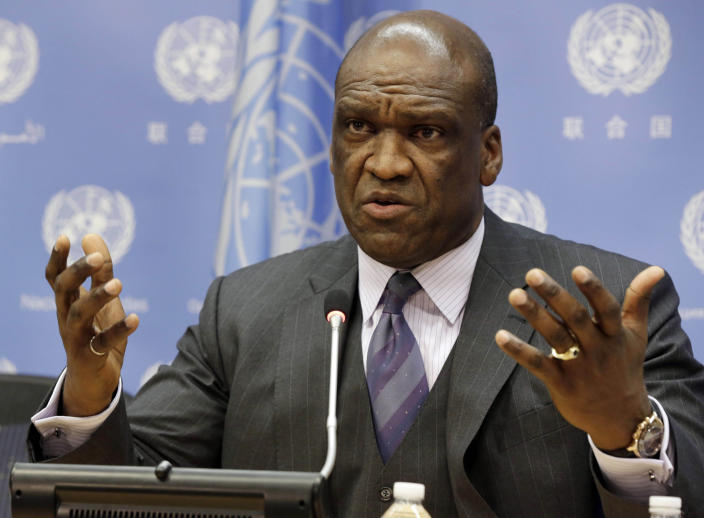 Ambassador John Ashe, of Antigua and Barbuda, the president of the General Assembly's 68th session, at United Nations headquarters on Sept. 17, 2013. (Photo: Richard Drew/AP)