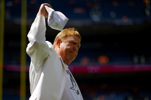 Oakland Raiders team owner Mark Davis has warned the team could move in 2019 if sued by the city over a planned relocation to Las Vegas (AFP Photo/Justin Edmonds)