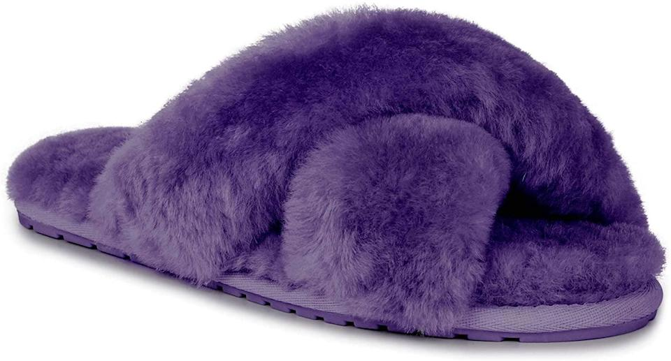 <p>These <span>EMU Australia Mayberry Sheepskin Slippers</span> ($60) will brighten up your day.</p>