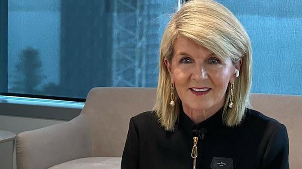 Julie Bishop may be known for her stylish short hair, but the former foreign affairs minister appears to have been growing her locks during the pandemic. Photo: Instagram/Julie Bishop