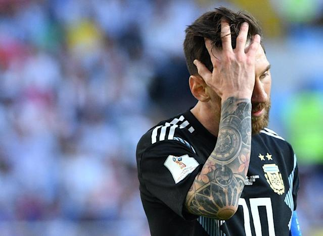 Lionel Messi threw away the chance to give Argentina an opening win (AFP Photo/Mladen ANTONOV)