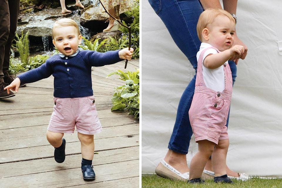<p>In 2014, a toddler-aged Prince George attended a charity polo match in a stylish pair of overalls; almost five years later, Prince Louis wore them again – but ever the fashion trailblazer, he chose to style them differently, wearing the overalls as shorts.<br></p>