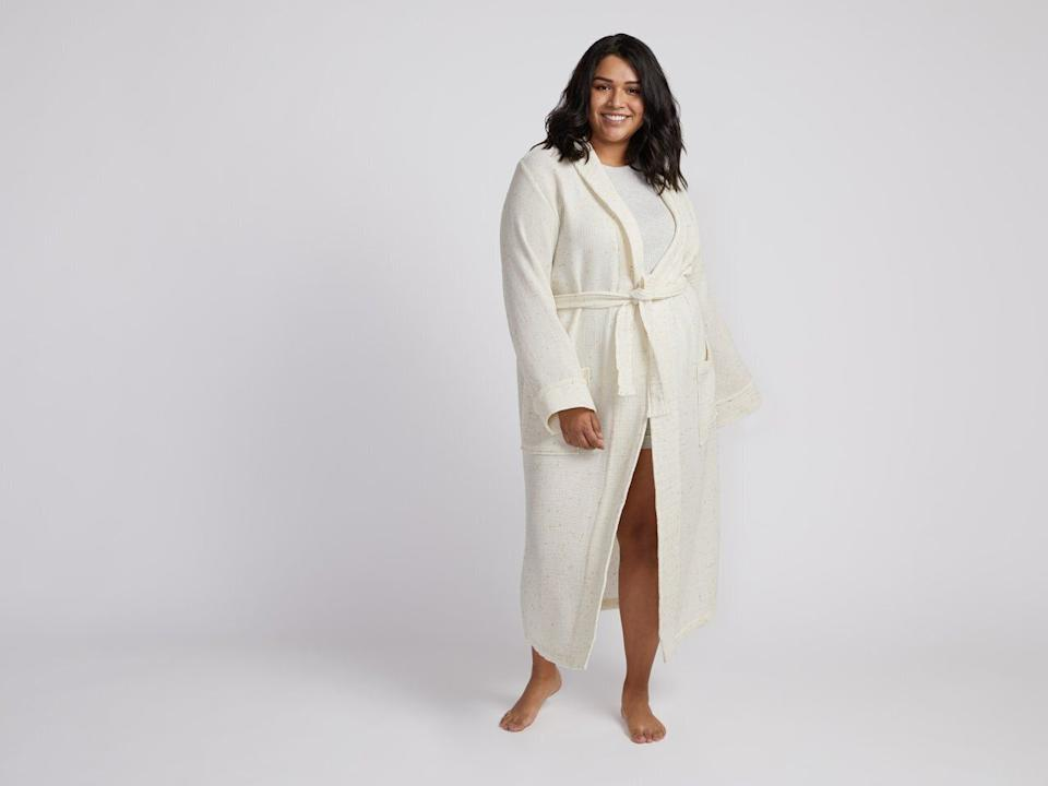 """This robe is made completely from Turkish cotton. It comes in sizes small to x-large. <a href=""""https://fave.co/35zOi89"""" target=""""_blank"""" rel=""""noopener noreferrer"""">Originally $129, get it now for 20% off at Parachute</a>."""