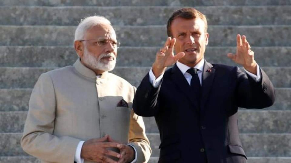 Modi, Macron discuss cooperation after France