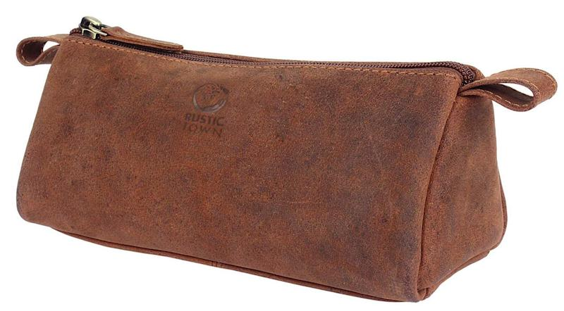 Rustic Town Leather Pencil Case (Photo: Amazon)