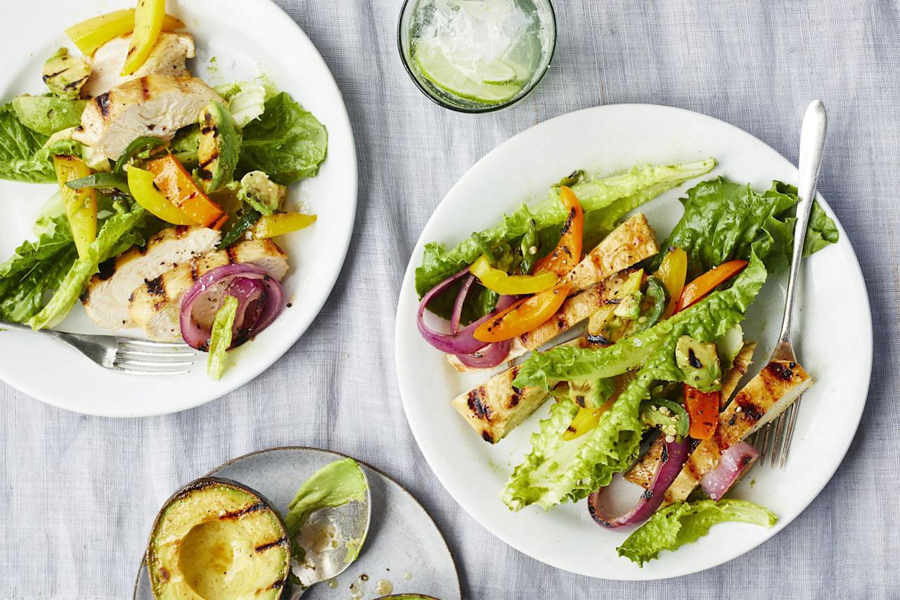"""<p>Impress your cookout guests with these lip-smacking good recipes. Here you'll find easy and creative ways to reinvent <a rel=""""nofollow"""" href=""""https://www.womansday.com/food-recipes/food-drinks/g2337/30-minute-dinners/"""">grilled chicken</a>, including foil packet dinners, pesto-infused dishes, flavor-packed kebabs, and more. And in case this inspires you to have more al fresco meals, try our favorite <a rel=""""nofollow"""" href=""""https://www.womansday.com/food-recipes/food-drinks/g2196/picnic-food-ideas/"""">summer picnic recipes</a>. </p>"""