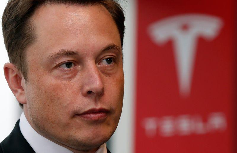Tesla Motors Inc Chief Executive Elon Musk pauses during a news conference in Tokyo in this file photo